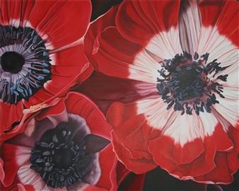 """Anemones Acrylic on Canvas 47"""" x 39.5"""""""