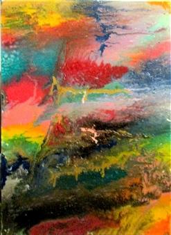 """Arcoíris Oil, Acrylic, Gesso, Resin on Canvas 48"""" x 36"""""""