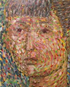 """Face No.6 Oil on Canvas 36"""" x 29"""""""