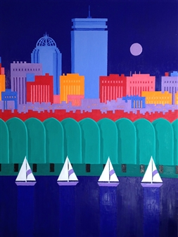 """Boston Prudential Oil on Canvas 72"""" x 54"""""""