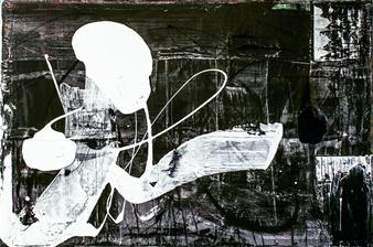 "Succubus Acrylic & Mixed Media on Canvas 24"" x 36"""