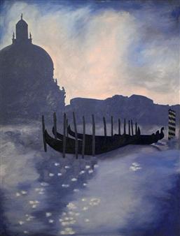 """Blue Venice Oil on Canvas 41"""" x 30"""""""