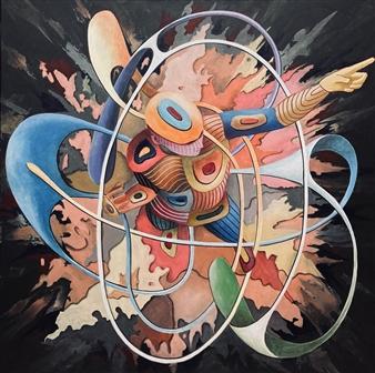 """Impulse Acrylic on Canvas 39.5"""" x 39.5"""""""