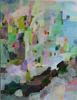 "Wild Flowers Acrylic on Canvas 18"" x 14"""
