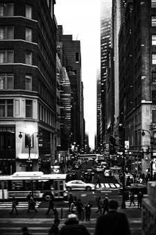"""NYC 5th Silver Gelatin Print 27.5"""" x 20"""""""