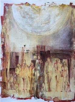 """Bajo la luz de la luna Acrylic on Canvas 39.5"""" x 31.5"""""""