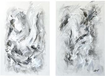 "Ethereal Dance Acrylic on Canvas 36"" x 48"""