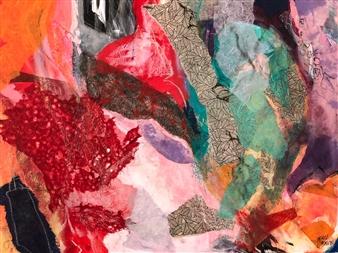 """Coral Garden Mixed Media on Canvas 30"""" x 40"""""""
