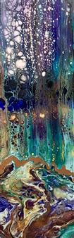 "Cypress Pond Acrylic on Canvas 36"" x 12"""