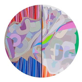 "Improvisation Acrylic on Canvas 17"" x 17"""