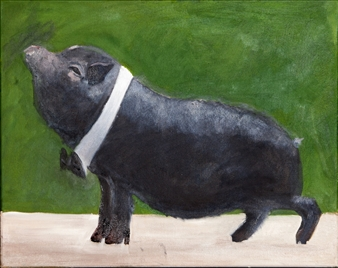 "Maxwell Oil on Canvas 16"" x 20"""