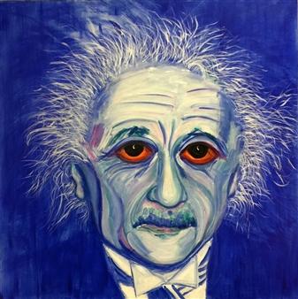 "Albert Acrylic on Canvas 31"" x 31"""