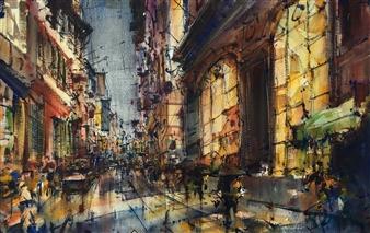 """Nocturno Watercolor 23.5"""" x 31.5"""""""