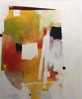 """On Being Oil and graphite on Canvas 60"""" x 50"""""""