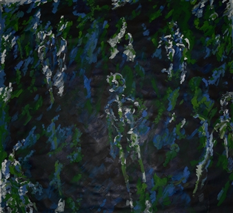"""Souls in the Tropical Forest Oil & Acrylic on Canvas 71"""" x 77"""""""
