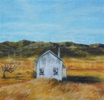"""Days Gone By Pastel on Paper 23"""" x 23"""""""