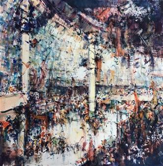 """Estación Watercolor 28.5"""" x 28.5"""""""