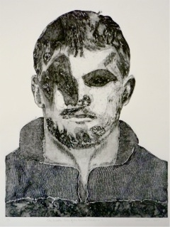 "Hidden Human Persona 5 Collograph Print on Rag Paper 30"" x 20"""