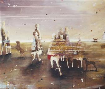 """Sunrise Acrylic on Canvas 39.5"""" x 47"""""""