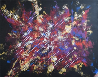 "Jouissance Acrylic on Canvas 32"" x 39.5"""