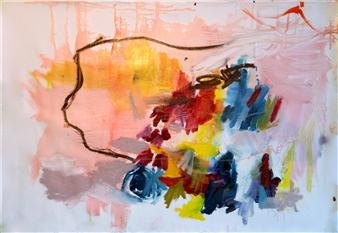 """Aproximación a lo inefable nro 1 Oil on Canvas 27.5"""" x 39.5"""""""