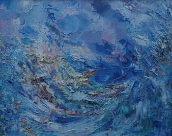 "Blue Rhapsody Oil on Canvas 16"" x 20"""