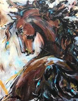 "Frolic Acrylic on Canvas 14"" x 11"""