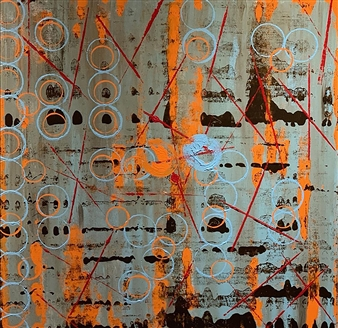 """Connectivity Acrylic on Canvas 36"""" x 36"""""""