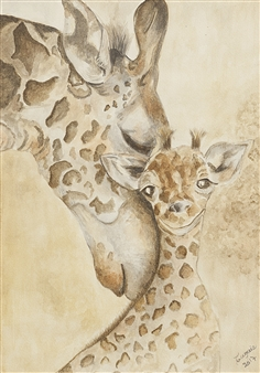 """Tenderness Watercolor on Paper 12.5"""" x 9"""""""