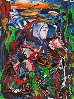"Human Emotions Acrylic on Canvas 40"" x 30"""