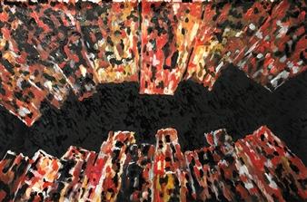 """New York 2 Oil & Acrylic on Canvas 39.5"""" x 59"""""""