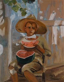 """Pastèque Oil on Canvas 31.5"""" x 23.5"""""""