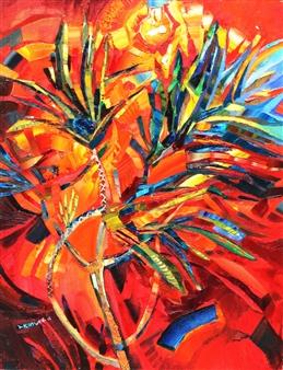 """Drazena Acrylic & Oil on Canvas 35.5"""" x 27.5"""""""