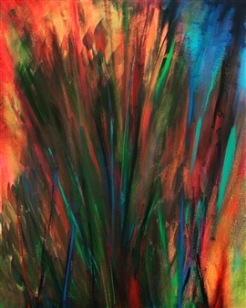 """Flowers Acrylic on Canvas 20"""" x 16"""""""