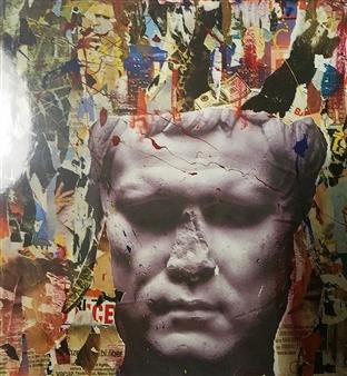 """Commisurazione Mixed Media on Canvas 39.5"""" x 39.5"""""""