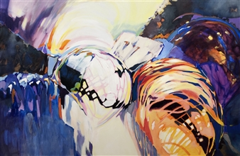 "Interception Acrylic on Canvas 48"" x 72"""