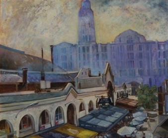 """Mercado del Puerto Oil on Canvas 20"""" x 23.5"""""""