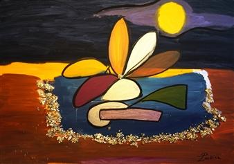 """A Sandy Beach Oil on Canvas 27.5"""" x 39.5"""""""