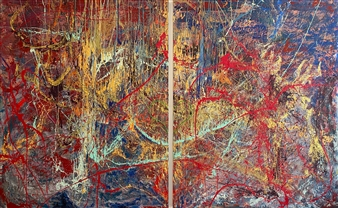 """That's My Song Mixed Media on Canvas 60"""" x 96"""""""