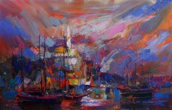 Yachts in the Bay