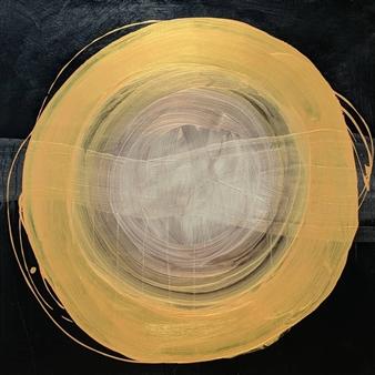 "Sound is Golden Acrylic on Wood Panel 36"" x 36"""