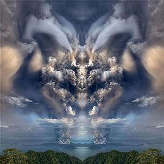 "Satan or God Digital Print on Canvas 39"" x 28"""