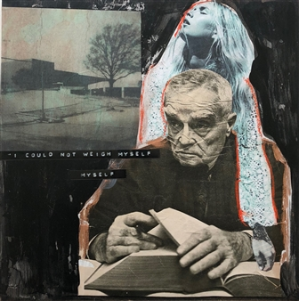 """Weight of the Matter Mixed Media & Collage on Board 12"""" x 12"""""""