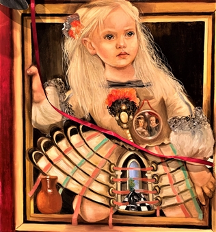 """Menina Oil on Canvas 23.5"""" x 23.5"""""""