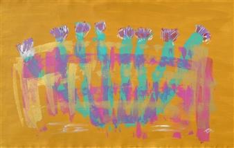 "Erizo Acrylic on Canvas 30"" x 50"""