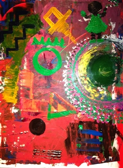 """Child Of The TimeZ Acrylic on Canvas 24"""" x 18"""""""