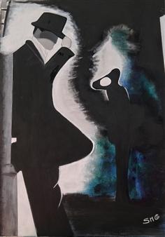 """El Compadrito Acrylic on Canvas 27.5"""" x 19.5"""""""
