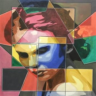 """Fear Acrylic on Canvas 27.5"""" x 27.5"""""""