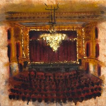 "Thalian Hall Oil & Pastel on Canvas 22"" x 22"""