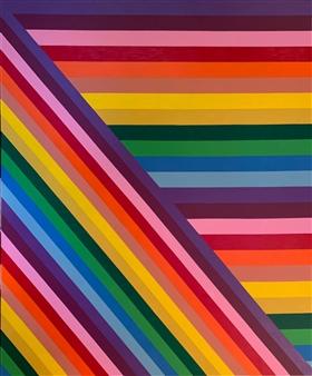 """Chromatic Acrylic on Canvas 60"""" x 72"""""""